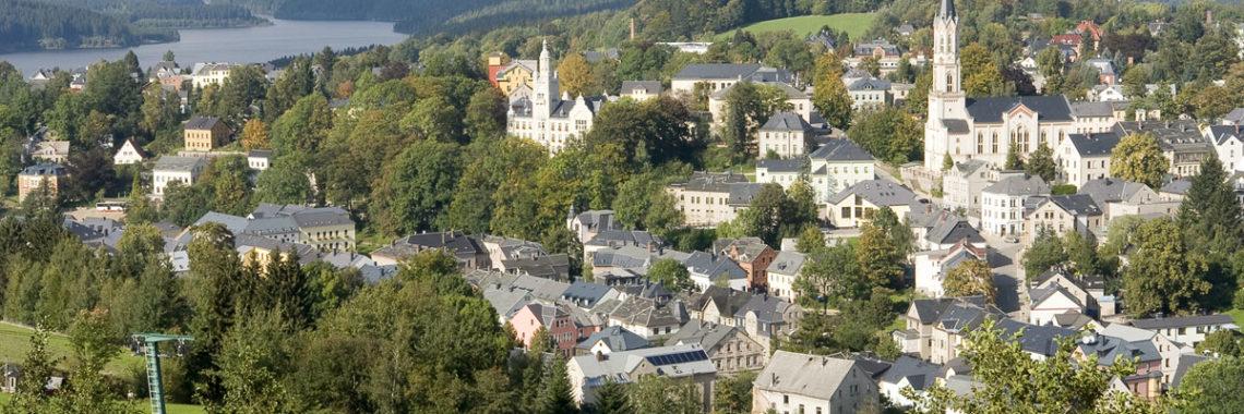 Stadt Eibenstock Kirche Talsperre